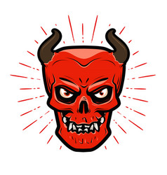 Portrait of angry devil halloween satan lucifer vector