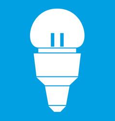 Reflector bulb icon white vector