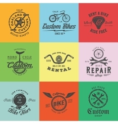 Retro custom bicycle labels or logo vector