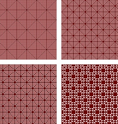 Seamless maroon triangle pattern set vector