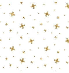 Seamless pattern of gold glitter crosses vector image vector image