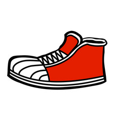 Sneaker cartoon icon vector