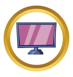 Tv icon cartoon style vector