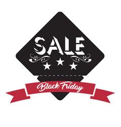 vintage black friday label vector image