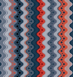 Wavy lines and dots seamless pattern vertical vector image vector image