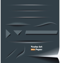 web divider set vector image vector image