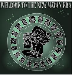 Welcome new mayan era vector
