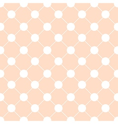 White polka dot chess board grid orange vector