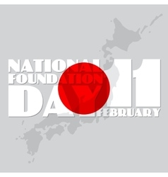 National foundation day of vector