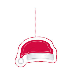 sticker santa christmas hat icon design vector image