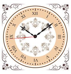 Elegant roman numeral clock vector
