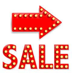 Arrow with sale text vector