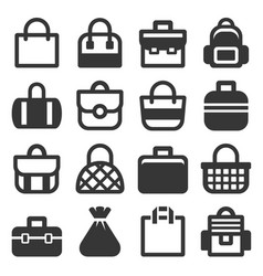 Bag icons set vector