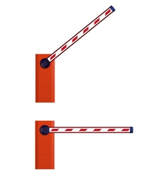Orange automatic barrier vector