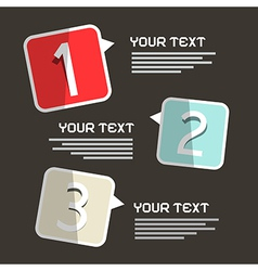 Three Steps Infographics Paper Design on Black vector image
