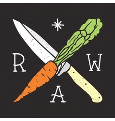 Raw vegan vector