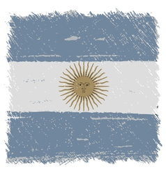 Flag of argentina handmade square shape vector