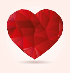 Heart origami low poly abstract vector