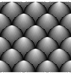 Design seamless monochrome cone background vector