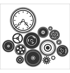 Gearwheel mechanism background vector