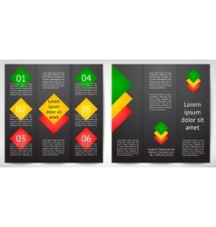 design template trifold vector image