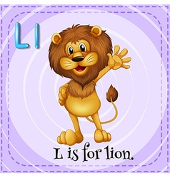 Alphabet l is for lion vector