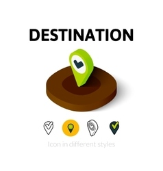 Destination icon in different style vector