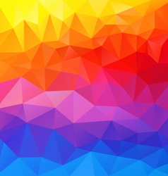 Full spectrum horizontal polygon triangular vector