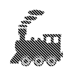 Locomotive sign on white vector