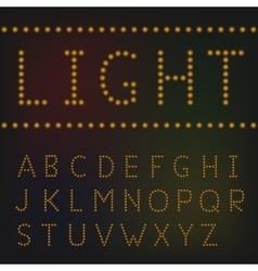 Light letter set vector