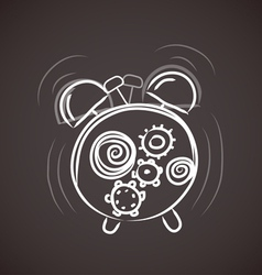 Sketchy alarm clock vector