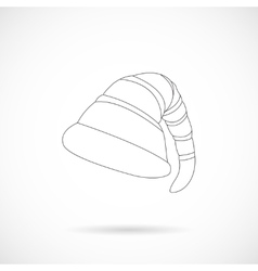 Christmas Elf Cap isolated over white vector image