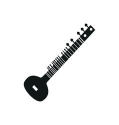 acoustic sitar vector image vector image
