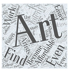 Affordable art word cloud concept vector
