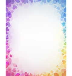 Background from color hearts vector image vector image