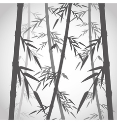 Bamboo trunk with leaves design vector