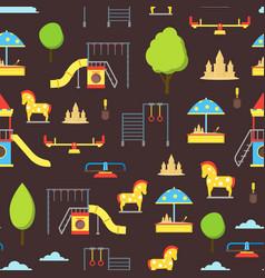cartoon playground element seamless pattern vector image vector image