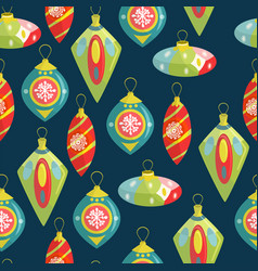 christmas decorations hand-drawn with christmas vector image vector image