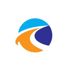 circle arrow business finance logo vector image vector image