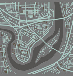 city map perspective vector image
