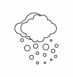 Cloud with hail icon outline style vector