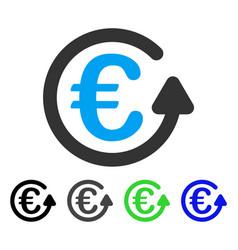 Euro chargeback flat icon vector