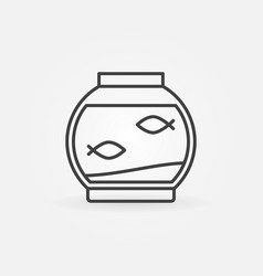 Fish bowl linear icon vector