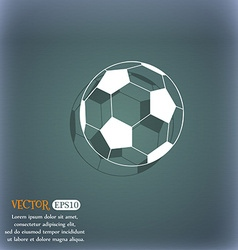 football icon On the blue-green abstract vector image