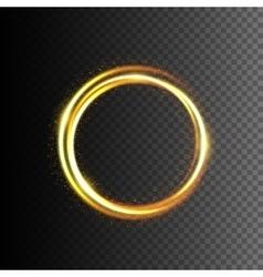 Gold glittering light frame vector
