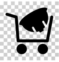Helmet shopping icon vector