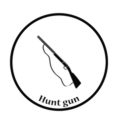 Hunt gun icon vector image