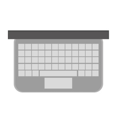 Laptop topview icon vector