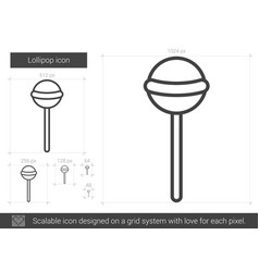lollipop line icon vector image vector image