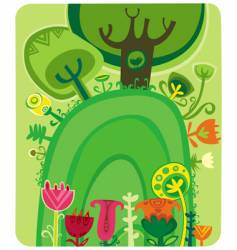 magical forest vector image